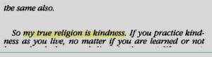 Dalai Lama my religion is kindness